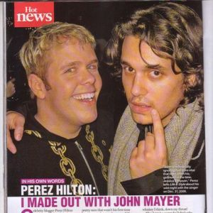 Perez Hilton and John Mayer